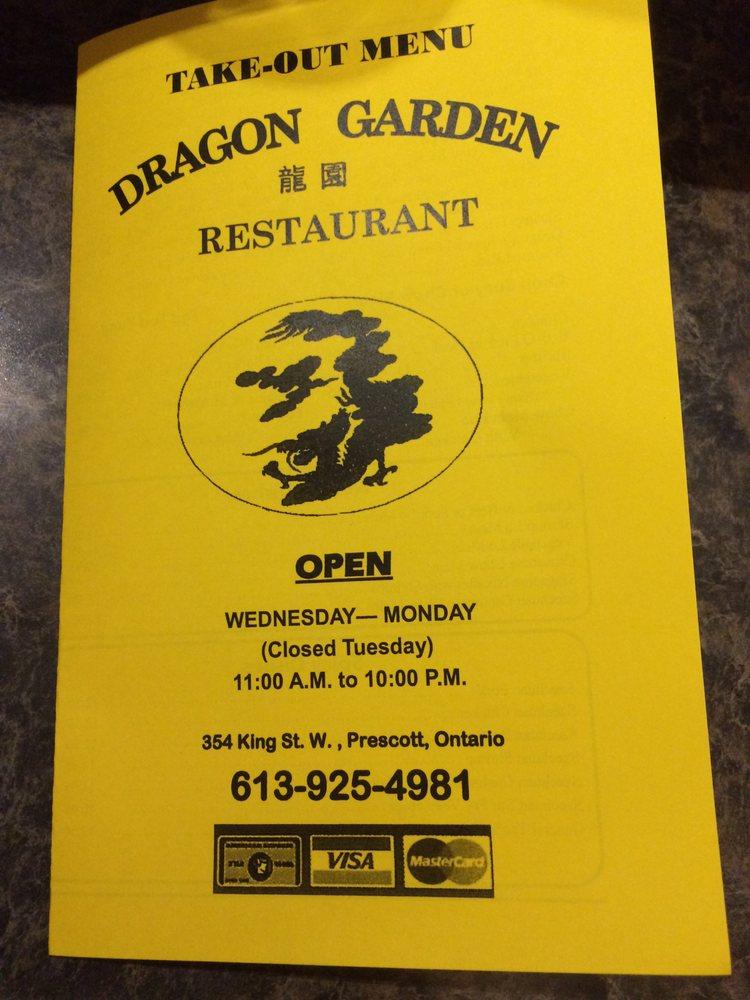 Dragon Garden: 354 King Street W, Prescott, ON