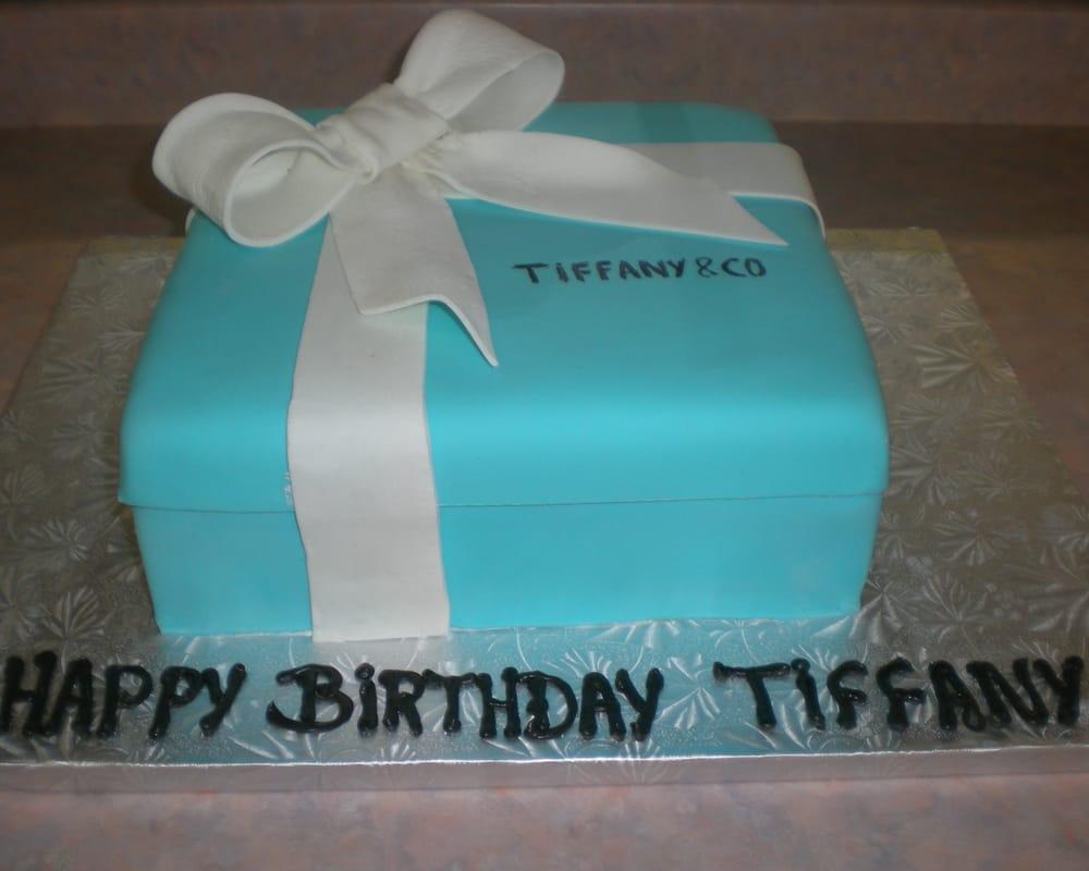 Tiffany Box Birthday Cake in Fondant Yelp