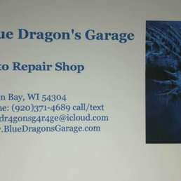 Blue dragons garage get quote auto repair 2273 main st green photo of blue dragons garage green bay wi united states this is this is our business card reheart Gallery