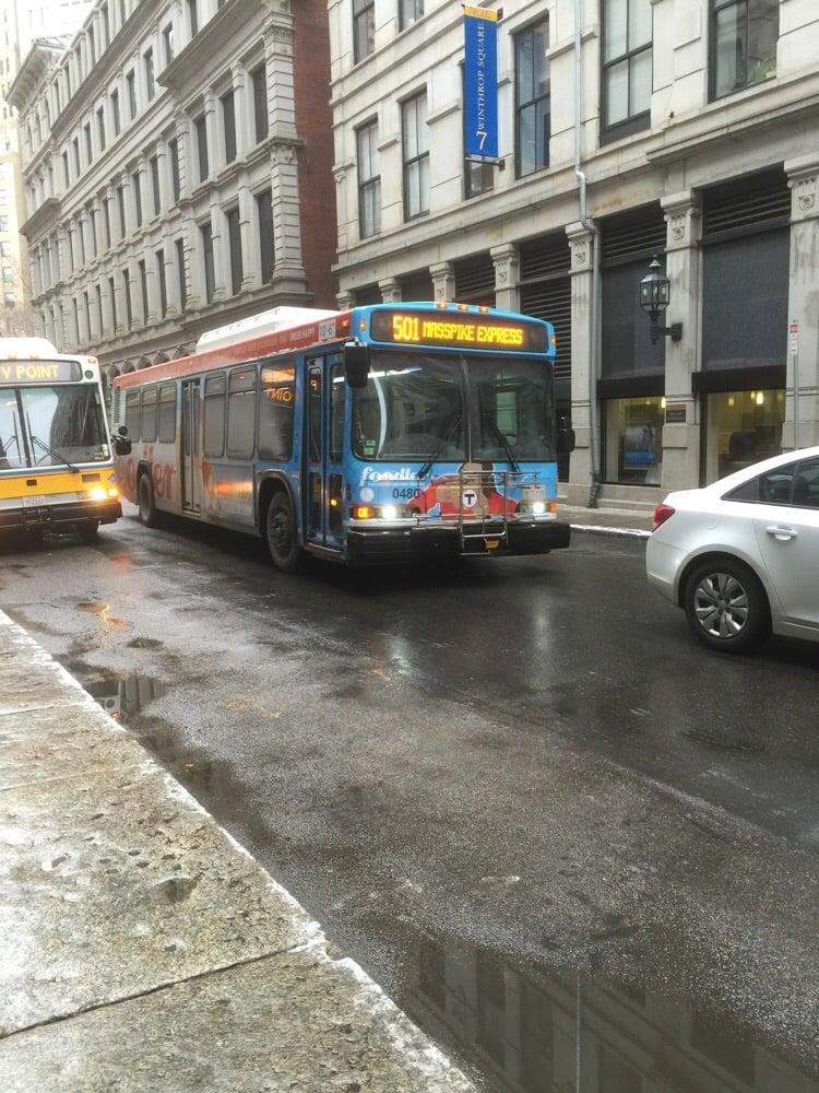 Mbta Bus Route 501 Public Transportation Brighton