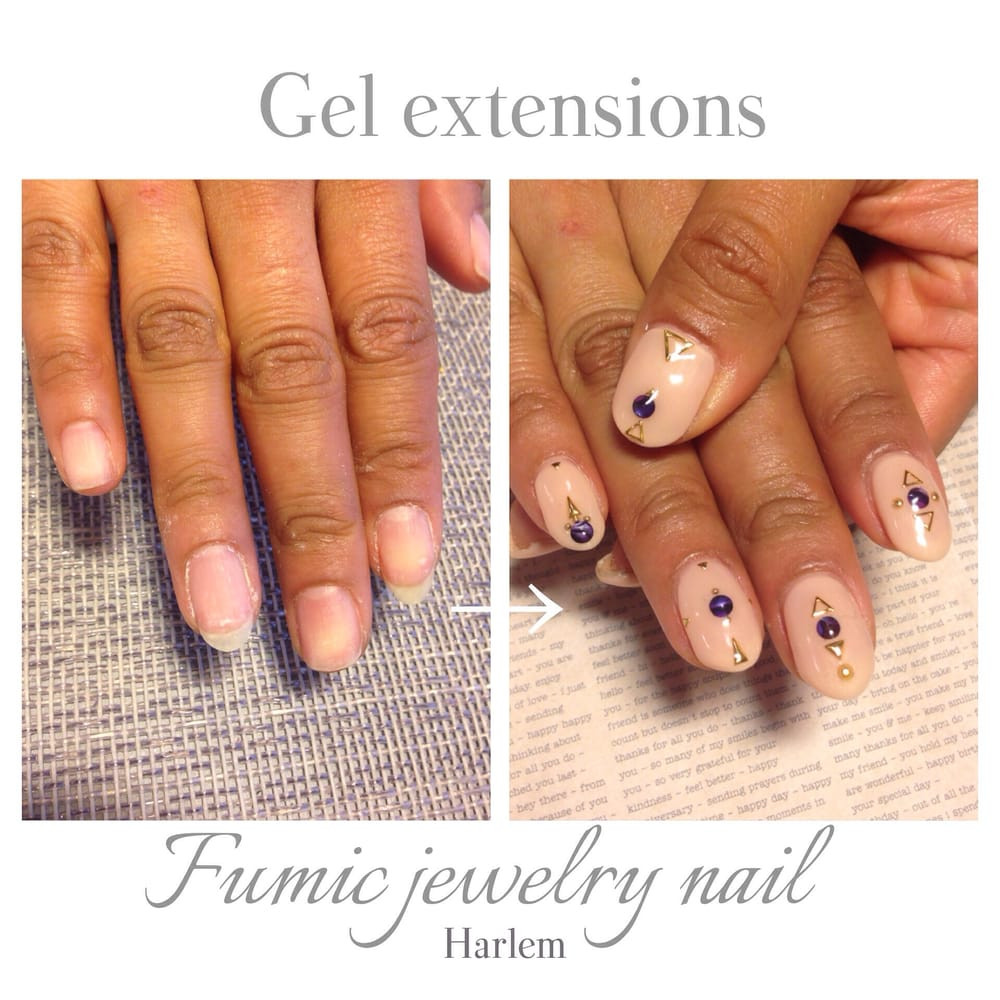 Before after w gel extensions - Yelp