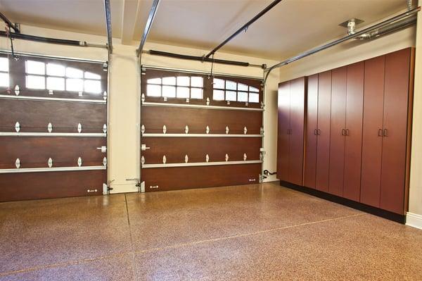 Custom Garage Doors Garage Cabinets And Epoxy Floor Yelp