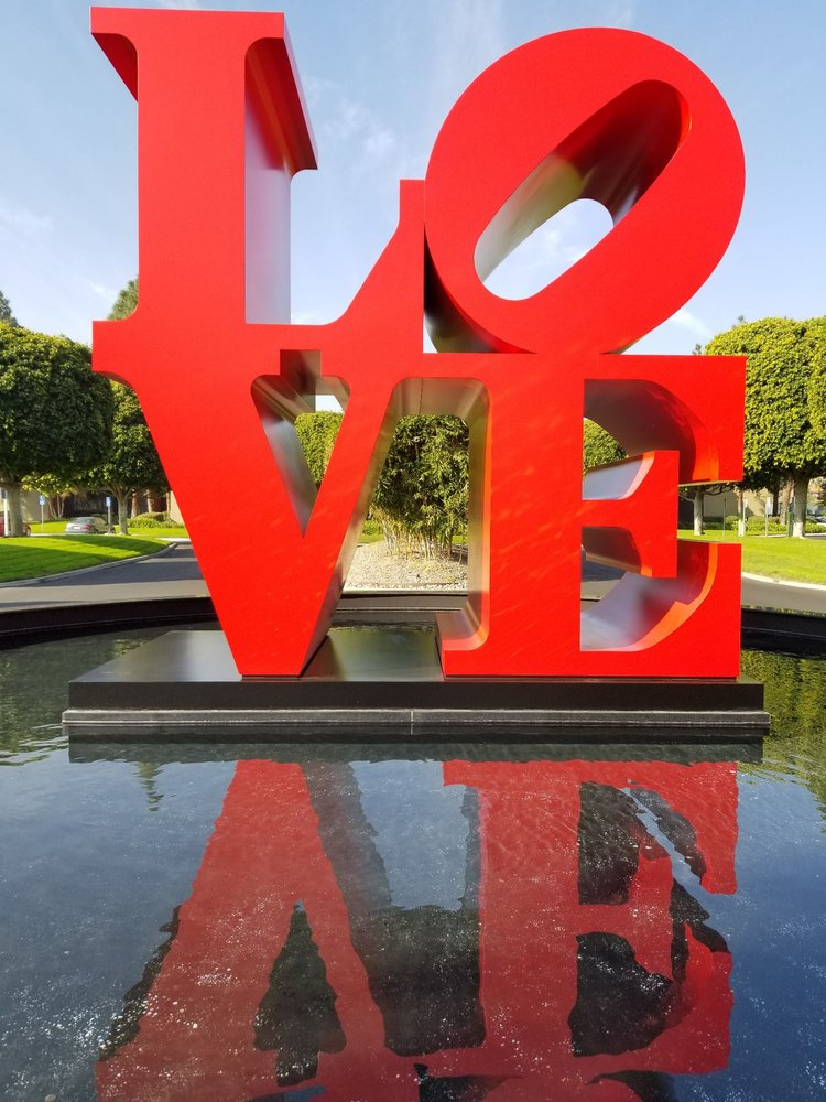 Robert Indiana's LOVE Sculpture: 1683 Walnut Grove Ave, Rosemead, CA