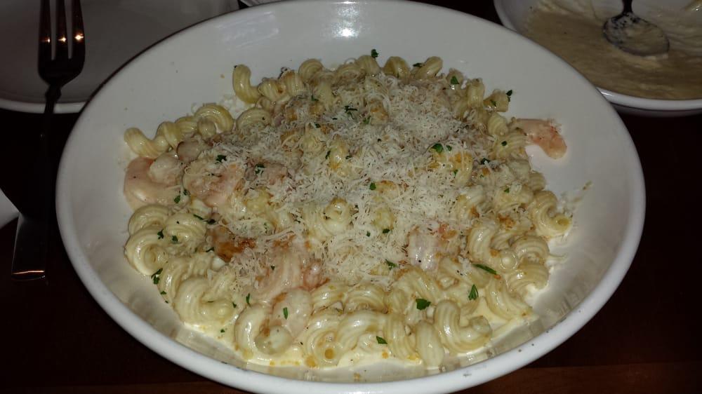 Cucina Mia Create Your Own Pasta Cavatapi Asiago Garlic Alfredo Sauce And Saut Ed Shrimp Yelp