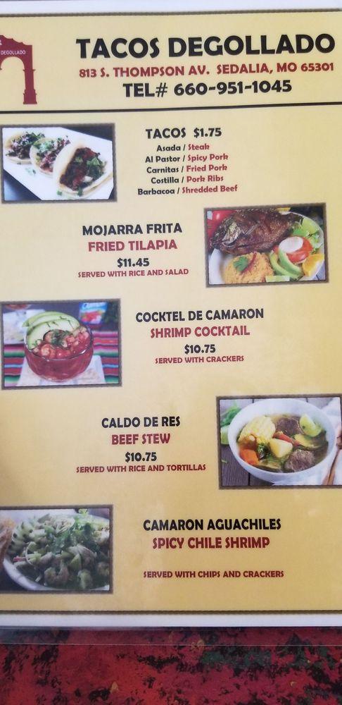 Tacos Degollado: 813 S Thompson Ave, Sedalia, MO