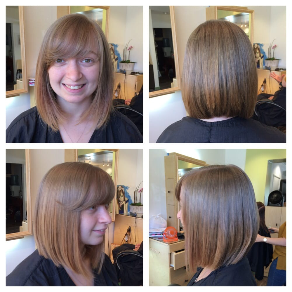 Cut Off Over 6 Inches To Create This Beautiful A Line Bob With Side