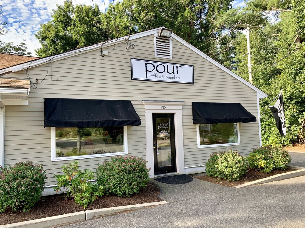 Pour Coffee & Bagel Company: 185 Rockland St, Hanover, MA