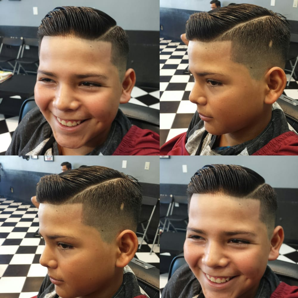 Medium fade part line up comb over for this stud  - Yelp