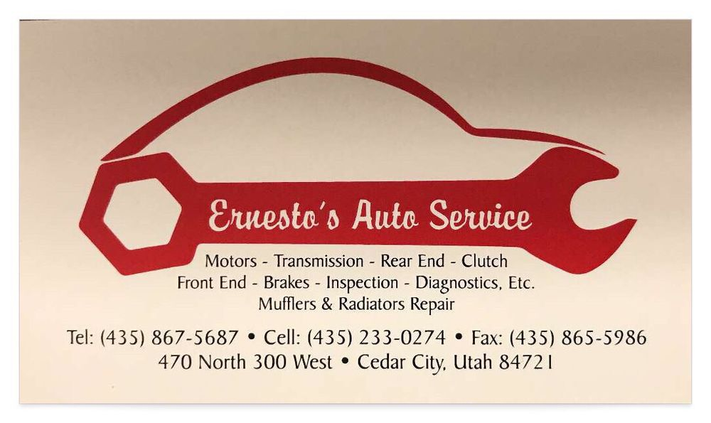 Ernesto Auto Repair: 470 N 300th W, Cedar City, UT