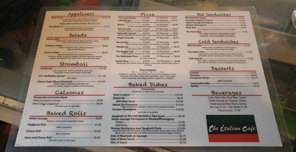 The Italian Café: 918 1st St SW, Childersburg, AL