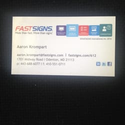 Fastsigns of odenton signmaking 1701 midway rd odenton md photo of fastsigns of odenton odenton md united states business card colourmoves