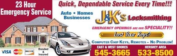 J & K's Locksmithing: 4905 Wyoming Ave, Harrisburg, PA