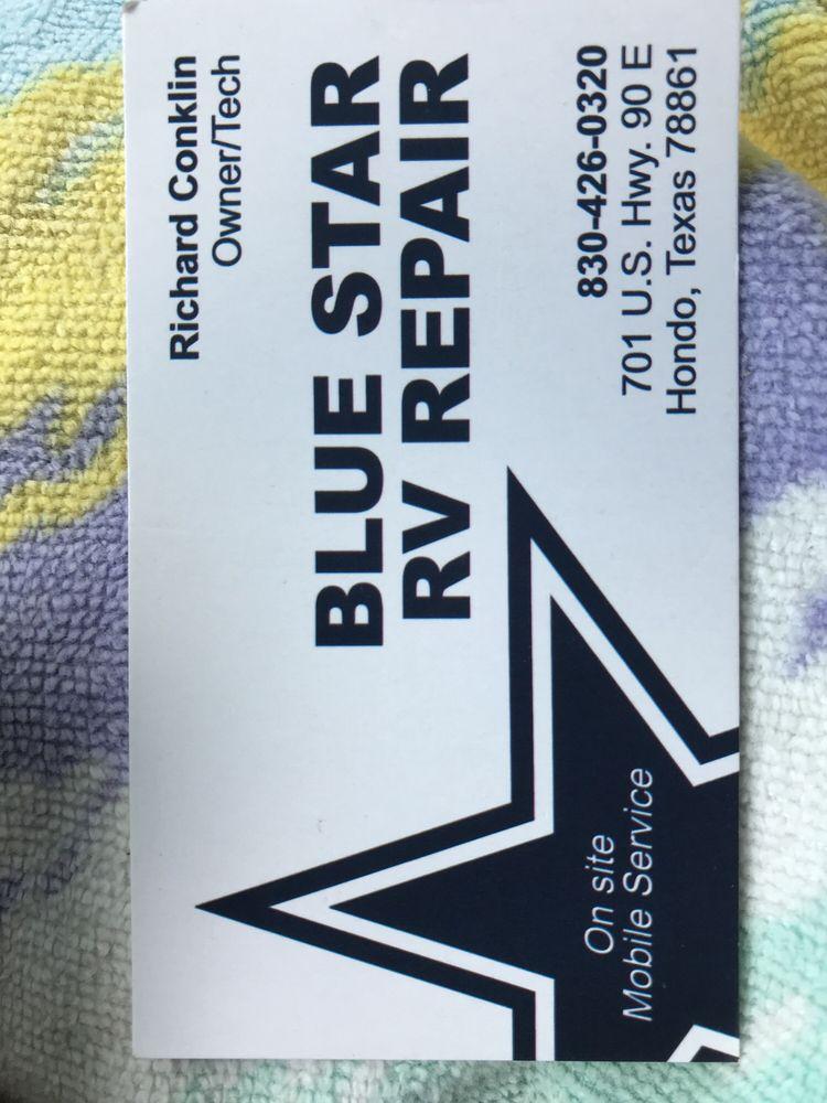 Blue Star RV Repair: 701 US Hwy 90 E, Hondo, TX
