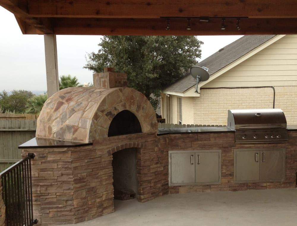 San antonio outdoor kitchen with pizza oven yelp for Outdoor kitchen designs san antonio