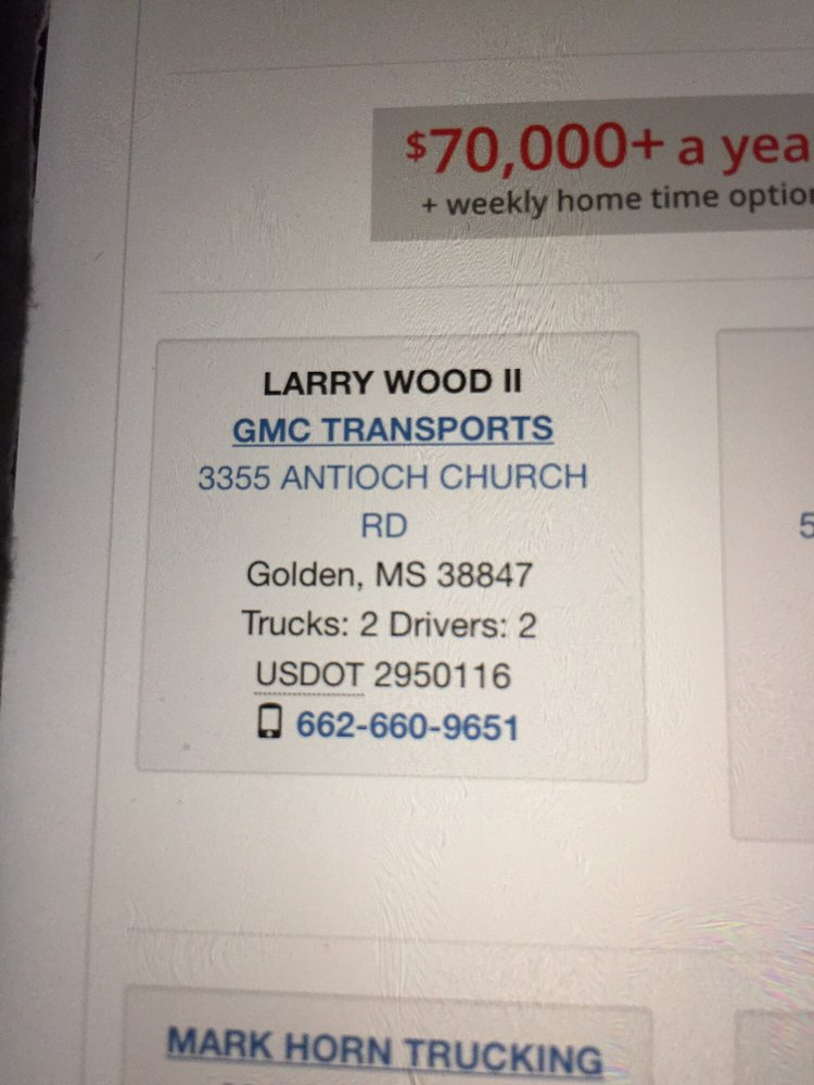 GMC Transports: 3355 Antioch Church Rd, Golden, MS