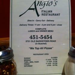 Angio S Italian Restaurant Louisville Ky
