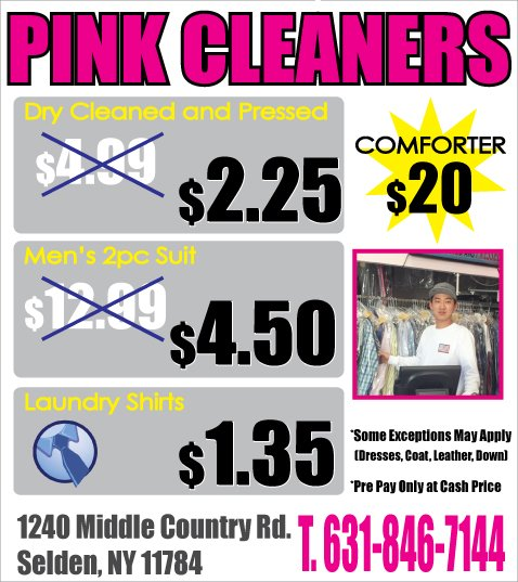 Pink Cleaners: 1240 Middle Country Rd, Selden, NY