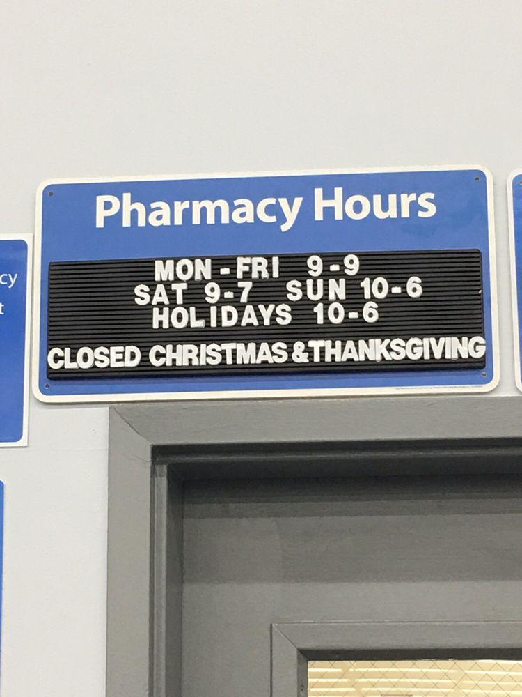Walmart Pharmacy hours - Yelp
