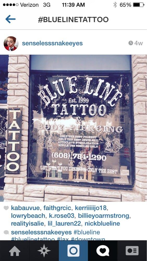 Blue Line Tattoo: 523 Main St, La Crosse, WI