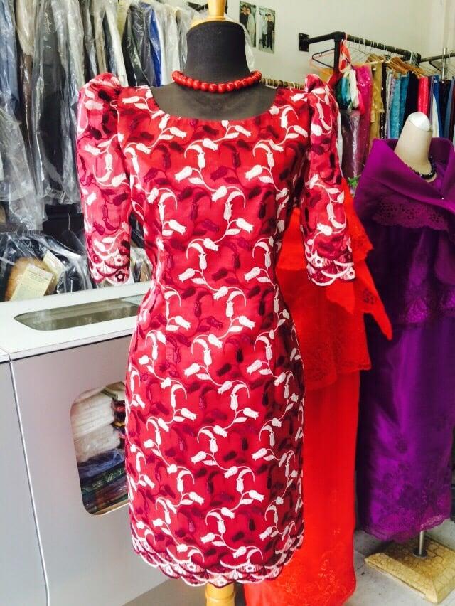Red filipiniana dress yelp for Custom dress shirts los angeles