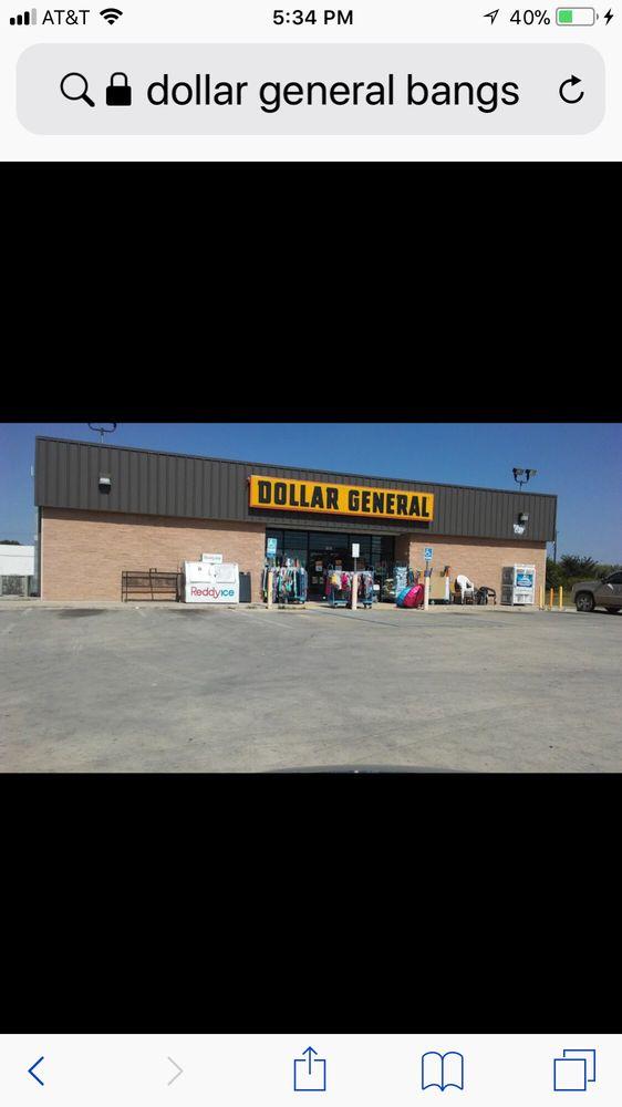 Dollar General Store: 130 E Hall St, Bangs, TX