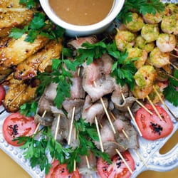 Photo Of Elephants Catering And Events Portland Or United States Satay Platter