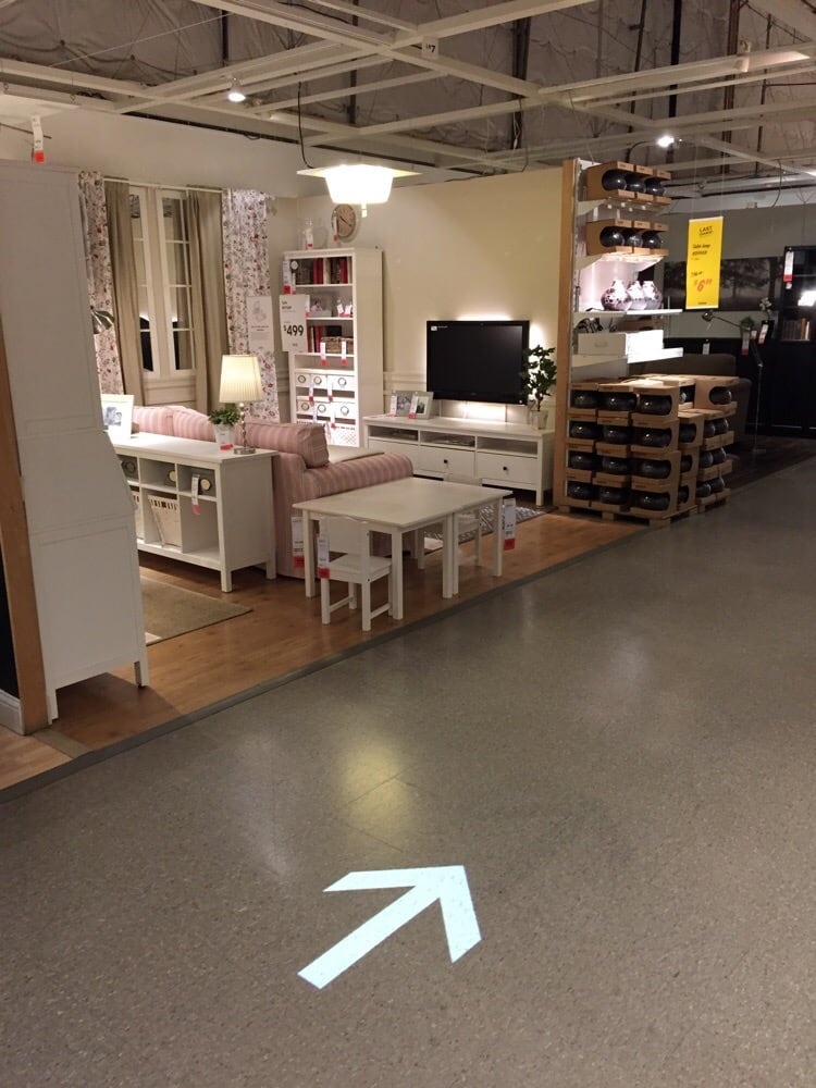 Follow the ceiling lit floor arrows otherwise you 39 ll end for Ikea seattle ameublement renton wa