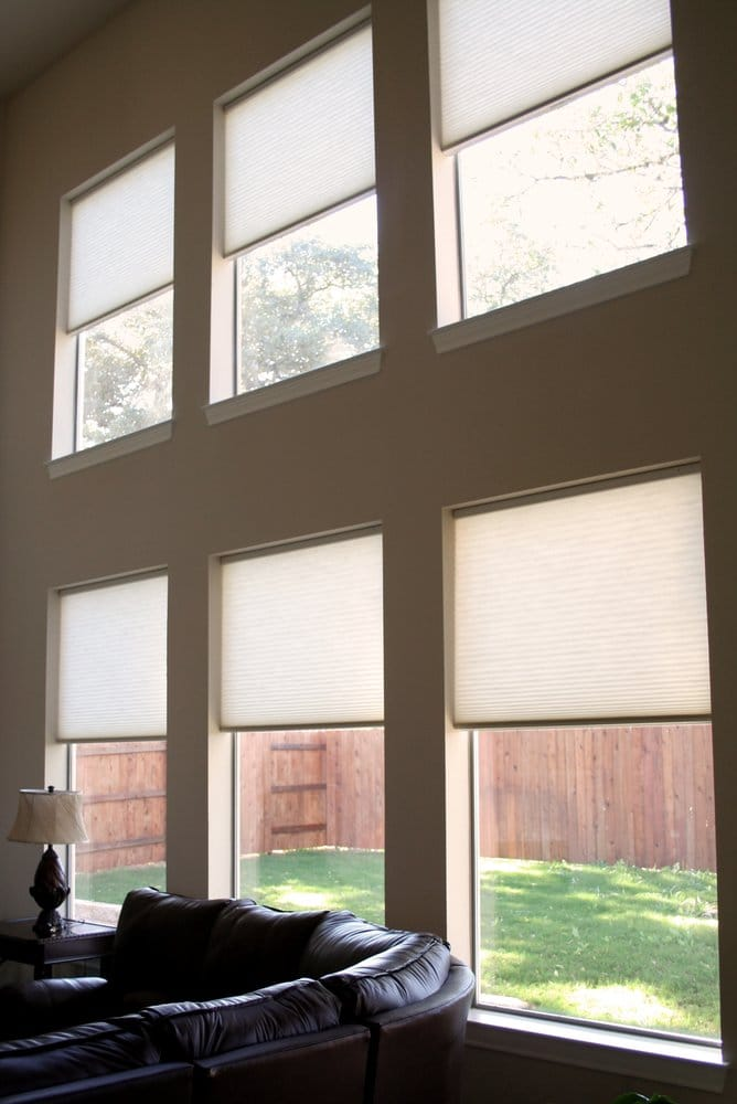 Motorized Cellular Shades Are Great For High Windows You