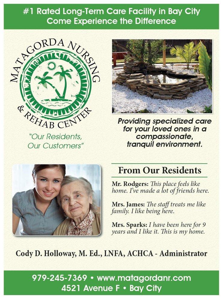Matagorda Nursing and Rehabilitation Center: 4521 Avenue F, Bay City, TX