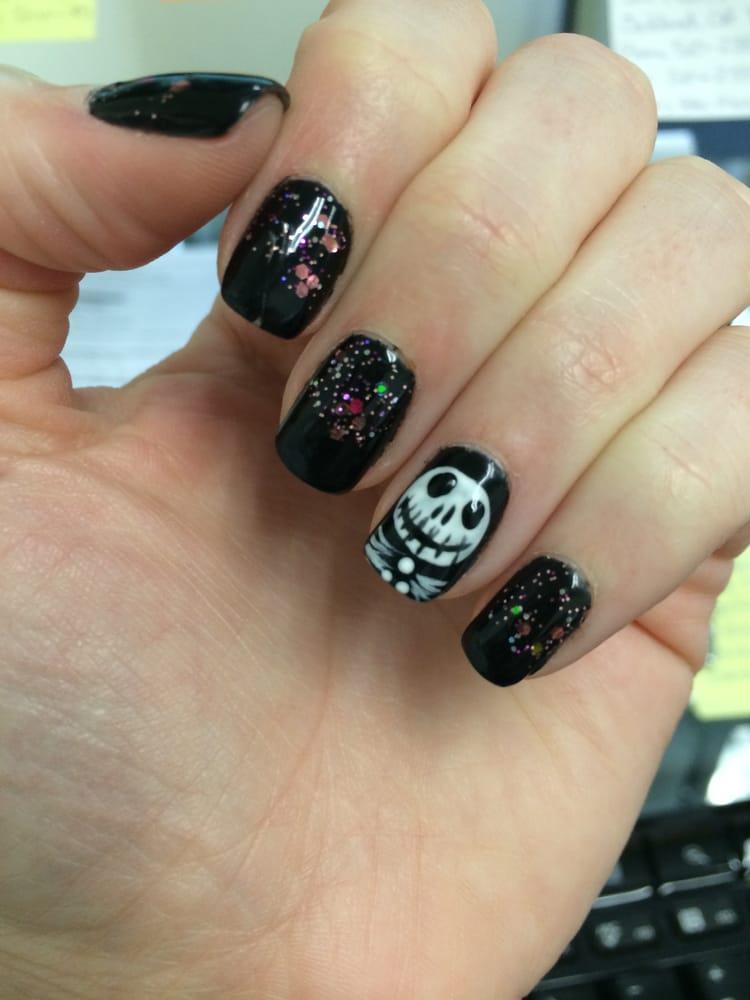 Nightmare Before Christmashalloween Themed Nail Art Nice Job