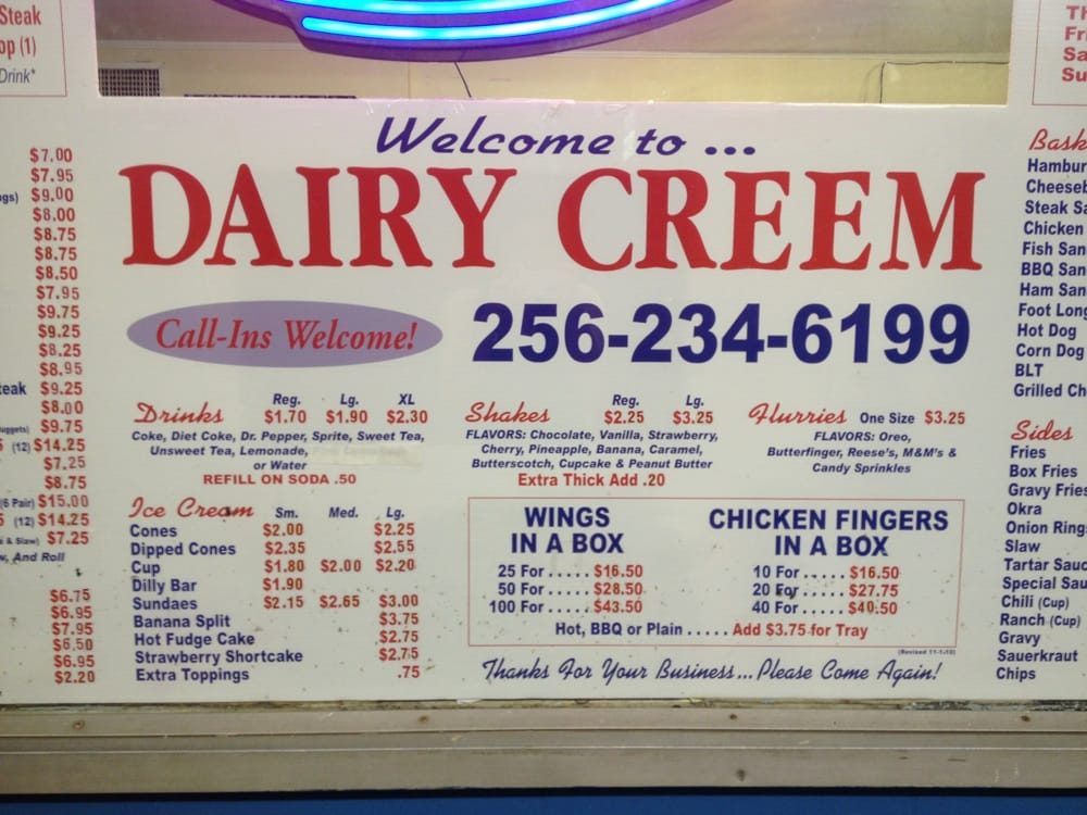 Food from Dairy Creem