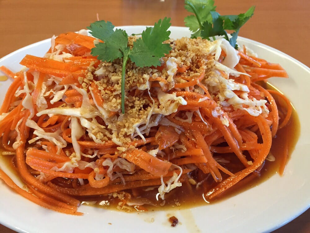 Thai slaw drenched in syrupy dressing yelp for 8 spices thai cuisine