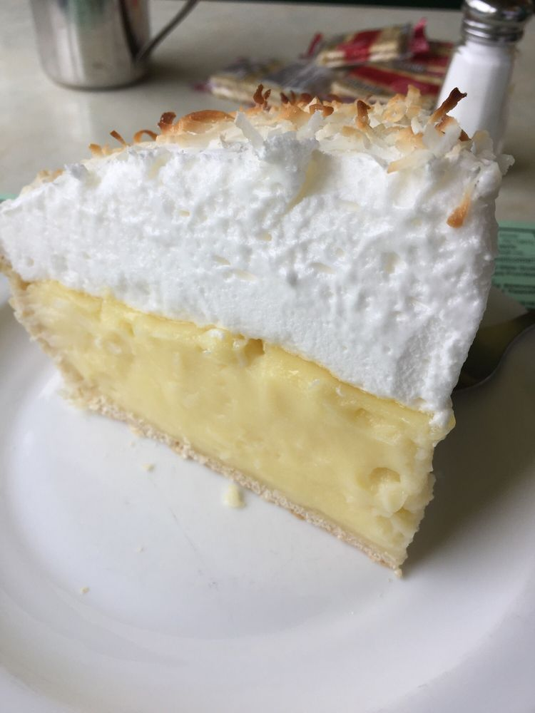 This coconut cream pie tastes like the Great Depression. I ...
