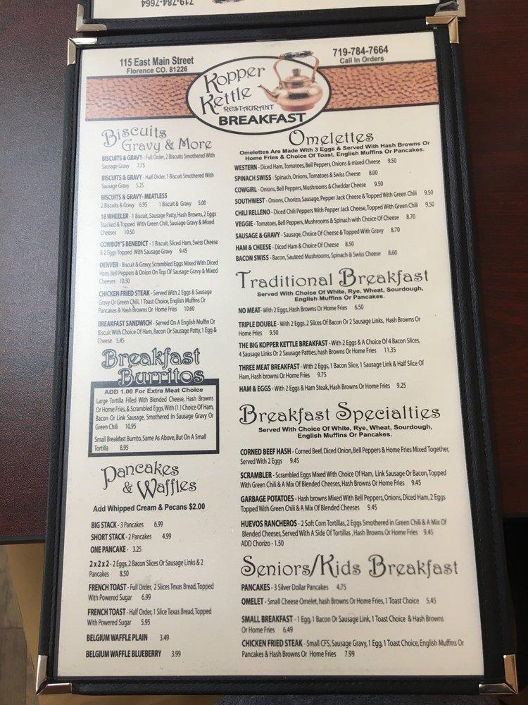 Kopper Kettle Restaurant: 115 E Main St, Florence, CO