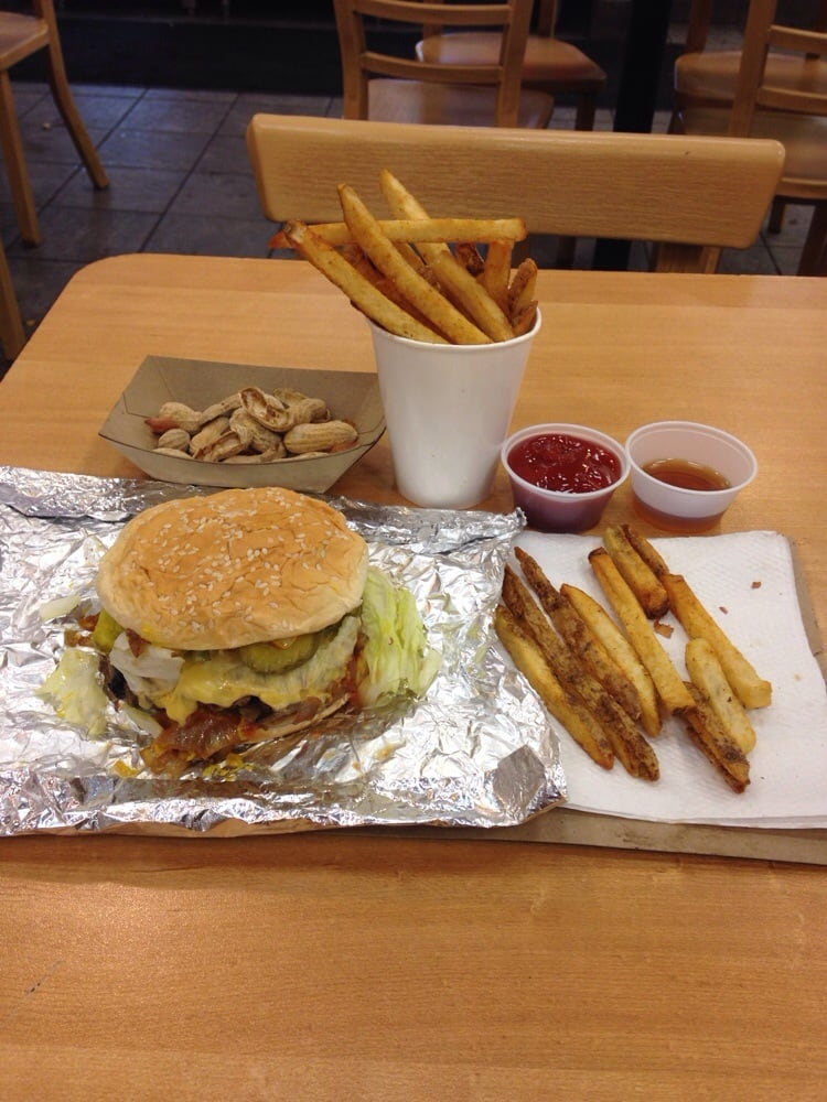P O Of Five Guys Geneva Il United States A Little Bacon Cheese