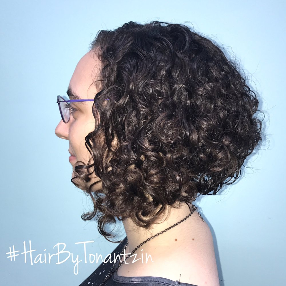 curly a-line bob - yelp