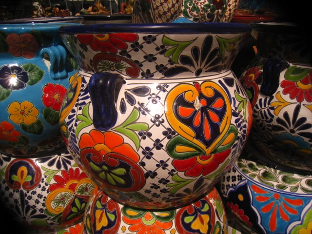Mexican Talavera Pottery Plant Stands Wrought Iron Benches Yelp