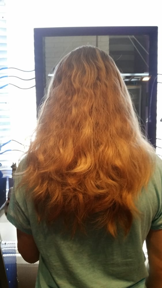 Picture Of My Frizzy Curly Hair Before The Brazilian And Highlights