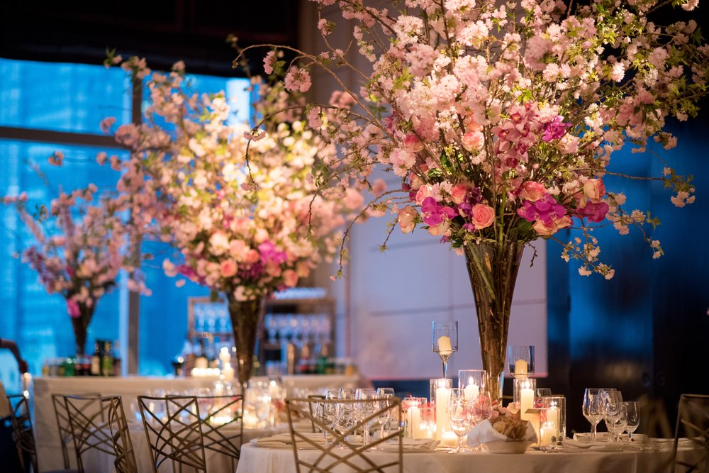 Wedding centerpieces cherry blossom centerpiece mandarin photo of simply sunshine events hoboken nj united states wedding centerpieces junglespirit Image collections