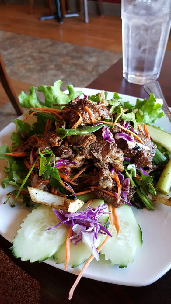 22 grilled nam tok yelp for Ano thai lao cuisine
