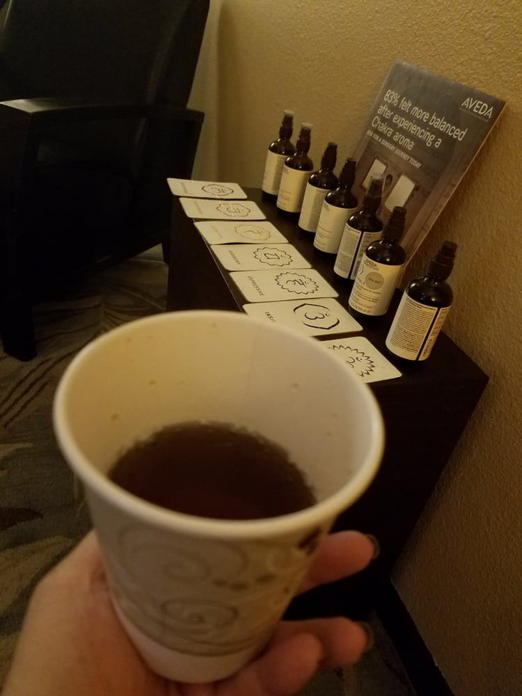 Aveda tea before my 90 min elemental nature spa facial yelp for A cut above salon las vegas