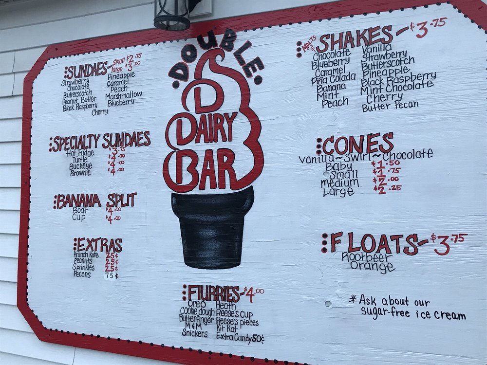 Double D Dairy Bar: 601 State St, Melrose, OH