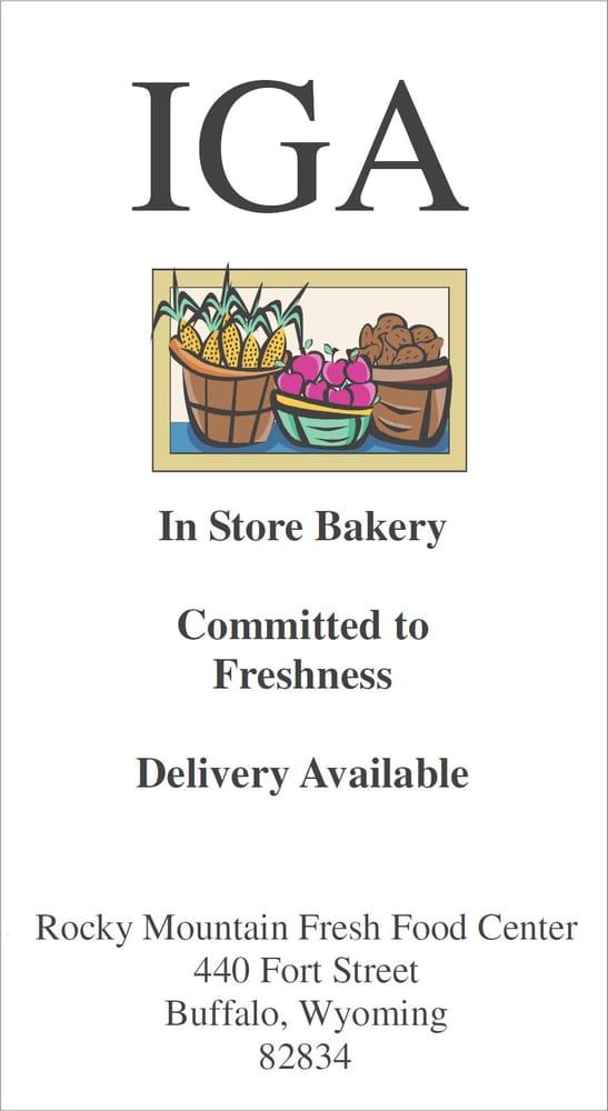 Rocky Mountain Fresh Food Iga: 440 Fort St, Buffalo, WY