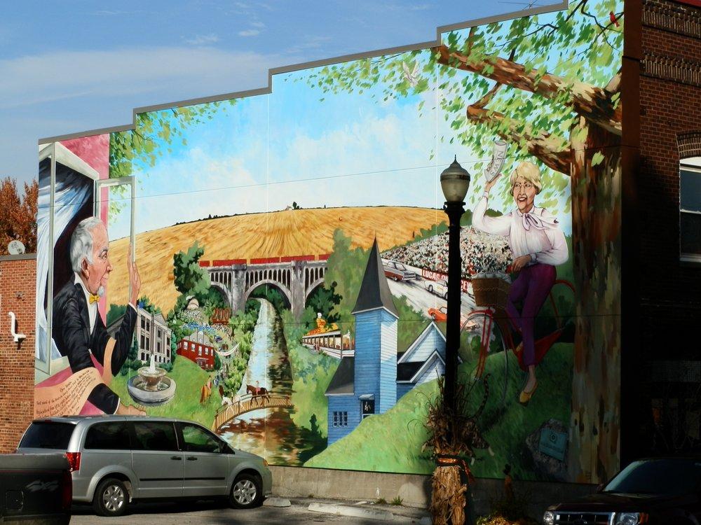 Open Window Mural: 20 W Main Street, Danville, IN