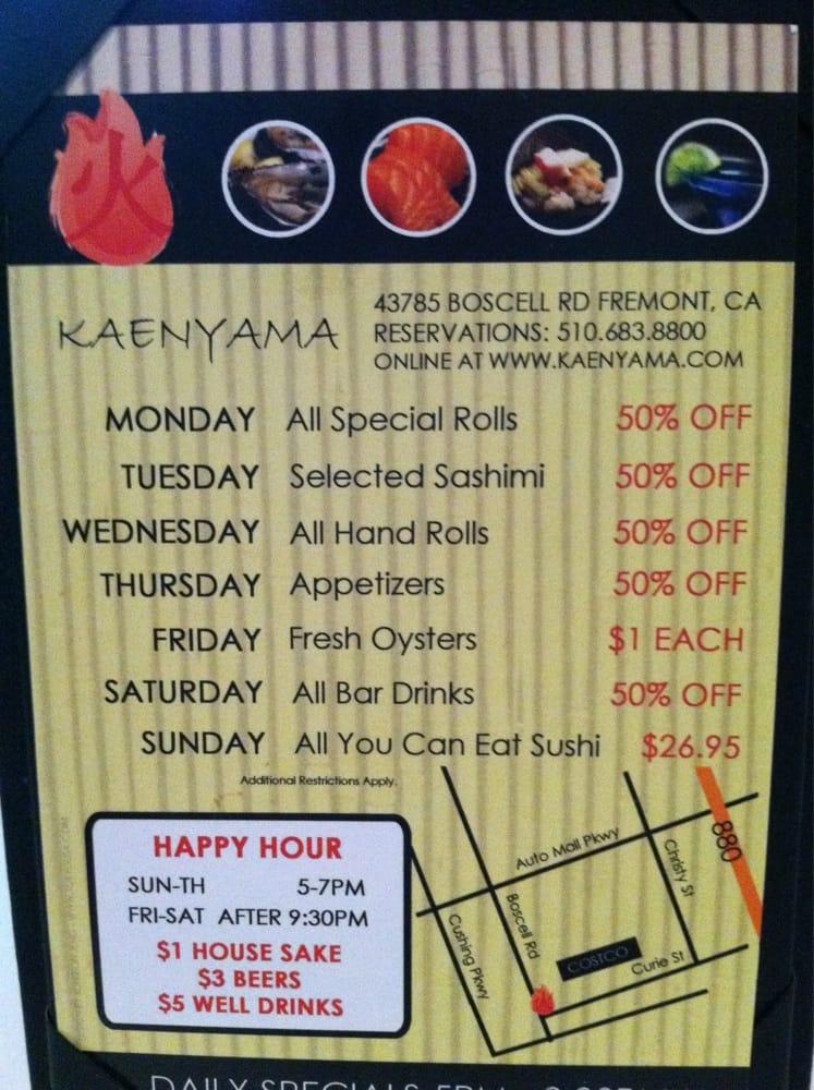 Kaenyama Restaurant Fremont Ca