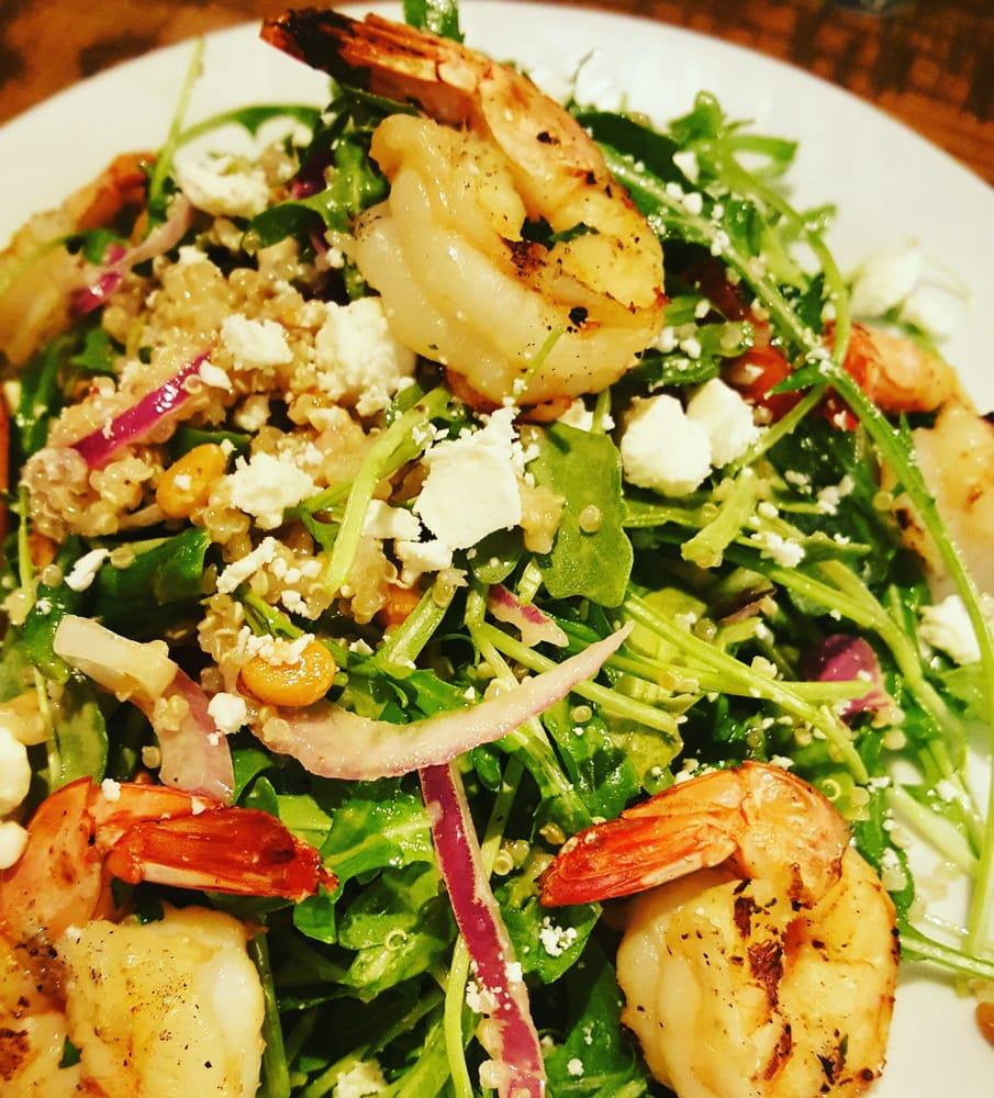 California Pizza Kitchen Yelp: Quinoa + Arugula Salad With Shrimps