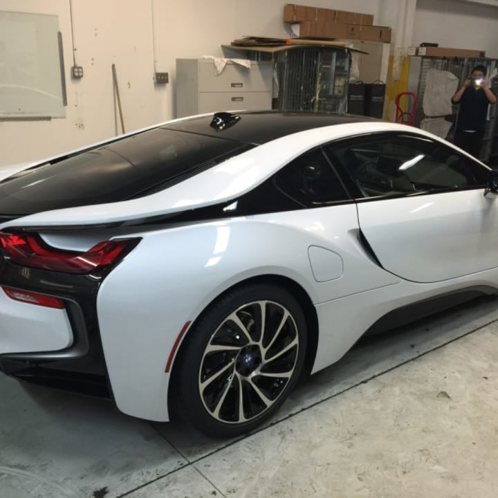 sf 2014 bmw i8 electric car after we tint all the windows. Black Bedroom Furniture Sets. Home Design Ideas