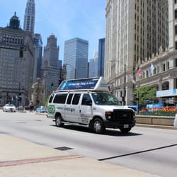 A GO Airport Express driver picks up travelers in a nine-passenger van and takes them to or from Chicago's O'Hare International Airport or Midway International Airport, assisting with luggage when necessary. Children younger than 5 ride for free. The shared shuttle option may 89%().