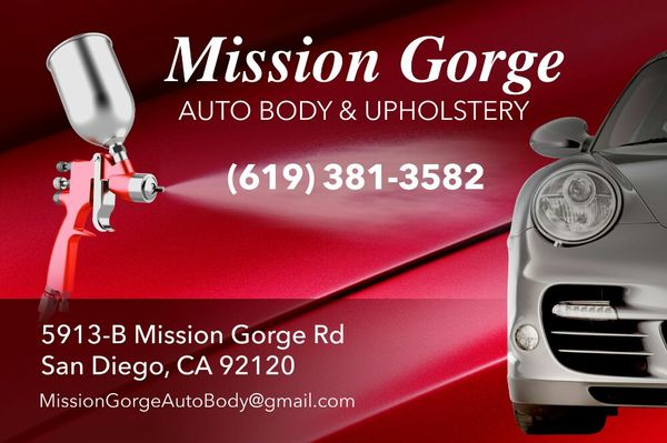 Mission Gorge Auto Body Upholstery 5913 Mission Gorge Rd Ste B San