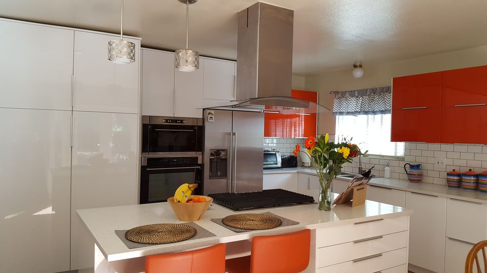 My beautiful Ikea kitchen, Ringhult cabinets with the Jarsta Orange